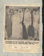 1971 UAE Shaikh Rashid Bin Almak Tum Dubai Picture News Paper Piece - Dubai