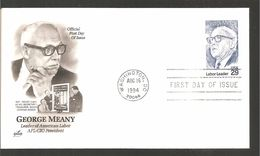 FDC 1994   GEORGE  MEANY - Premiers Jours (FDC)