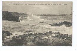 71171185- BRETIGNOLLES Vue Générale De La Parée - Coup De Mer Dans Les Roches Du Four à Catteau - Bretignolles Sur Mer