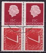 1964 Combinatie 2 X 15 + 2 X 7 Ct Uit PB 1 NVPH C 9 Versneden - Carnets Et Roulettes