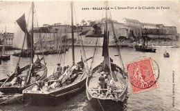 Cpa   BELLE ILE EN MER  Avant Port Et Citadelle Du Palais - Belle Ile En Mer