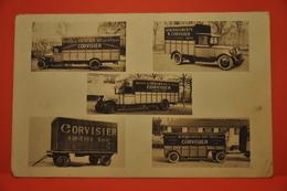 Asnières - Carte Publicitaire Transports CORVISIER - Asnieres Sur Seine