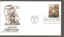 FDC 1993  CLASSIC BOOKS - Ersttagsbelege (FDC)
