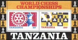 Tanzania (Tanzanie) World Chess Championship M/Sheet MNH (M-38) - Chess