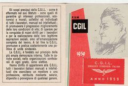 13955) TESSERA CIGL SINDACATO FERROVIERI 1959 - Documenti Storici
