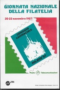 GIORNATA NAZIONALE DELLA FILATELIA E CONVEGNO COMMERCIALE - MILANO 87 - ANNULLO DELLA MANIFESTAZIONE 21.11.1987 - Francobolli (rappresentazioni)