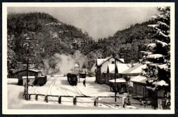A9127 - Oybin - Bahnhof Eisenbahn Dampflok - E. Wagner Söhne TOP - Stazioni Con Treni