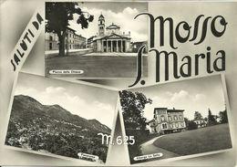 """Mosso S. Maria Fraz. Di Mosso (Biella, Piemonte) Vedute: P.za Della Chiesa, Panorama, Albergo """"La Sella"""" - Biella"""