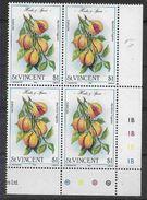 1985 SAINT VINCENT 810** Plante Aromatique, Issu De Série, Bloc De 4 - St.Vincent (1979-...)
