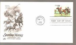 FDC 1993  SPORTING  HORSES - Ersttagsbelege (FDC)