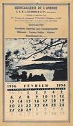 """CALENDRIER Commerciale  """" Quincaillerie De L'Avenir """"  TOURS (37-Indre-et-Loire) - Calendriers"""