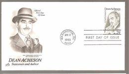 FDC 1993  DEAN ACHESON - 1991-2000