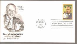FDC 1993  PERCY  LAVON  JULIAN - Ersttagsbelege (FDC)
