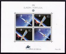 1991 Portogallo Portugal EUROPA CEPT EUROPE Foglietto MNH** Souv. Sheet - 1991