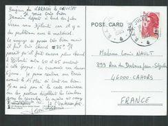 B A P( Batiment Atelier Polyvalent) Jules Verne Sur Carte Postale Du Pakistan Pour Cahors. - Cachets Militaires A Partir De 1900 (hors Guerres)