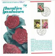 B29  Floralies Gantoises - Camelia, Nymphea, Azalea 1970 - Oblitéré Sur Folder Officiel De La Poste - Documenti Della Posta