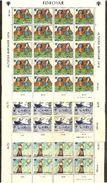 1979 Danimarca Denmark FAROER Faroe ANNO DEL FANCIULLO  YEAR OF THE CHILD 20 Serie Di 3v. MNH** (39/41) In Foglio Sheet - Fogli Completi
