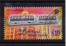 Singapore 1997, $10 Train, Minr 844, Vfu. Cv 10 Euro - Singapur (1959-...)
