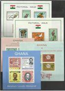 1965 Ghana 5 FOGLIETTI (14/18) MNH** 5 Souv. Sheets - Ghana (1957-...)
