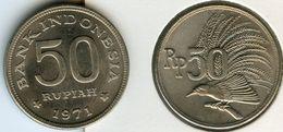 Indonesie Indonesia 50 Rupiah 1971 KM 35 - Indonesia