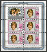 Niue - 1982 Princess Diana (Prince William Birth) Sheetlet MNH ** - Niue