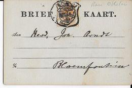 ORANGE (SOUTH AFRICA) - 1899 - TIMBRE SPECIAL CARTE POSTALE - CARTE => BLOEMFONTEIN - África Del Sur (...-1961)