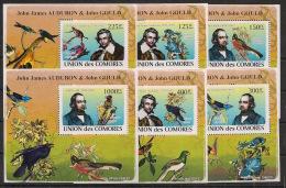 Comores - 2009 - KLB N°Yv. 1315 à 1320 - Audubon - Neuf Luxe ** / MNH / Postfrisch - Birds