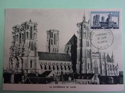 CARTE MAXIMUM FRANCE 1960 CATHEDRALE DE LAON - Maximumkaarten
