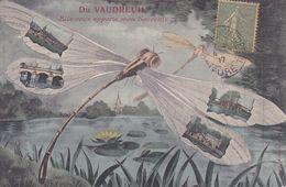 CPA - CPSM - 27 - LE VAUDREUIL - Du Vaudreuil Elle Vous Apporte Mon Souvenir - Libellule - Le Vaudreuil