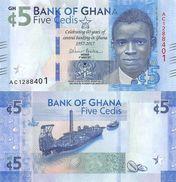 GHANA  5 CEDIS 4-3-2017 2017  SC / UNC / PLANCHA   T-DL-12.159 - Ghana