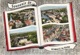CPSM Dentellée - SERMAIZE-les-BAINS (51) - Carte Multi-Vues De 1964 - Sucrerie - Canal Marne Au Rhin - Sermaize-les-Bains