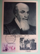 CARTE MAXIMUM FRANCE 1960 MICHEL DE L'HOSPITAL - Maximumkaarten