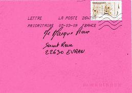 Enveloppe Oblitération LA POSTE 26479A 07/03/2009 - Sellado Mecánica (Otros)