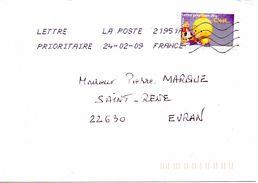 Enveloppe Oblitération LA POSTE 21951A 24/02/2009 - Sellado Mecánica (Otros)