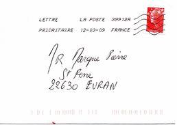 Enveloppe Oblitération LA POSTE 39912A 12/03/2009 - Sellado Mecánica (Otros)