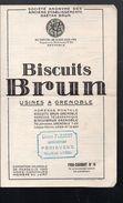 Grenoble (38 Isère) Prix Courant 14 BISCUITS BRUN  ..1923 (PPP6379) - Publicités