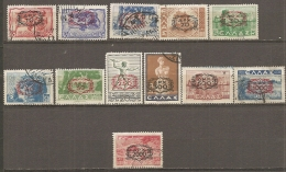 Yv. N°  521 à 533  : 12/18 Valeurs   (o)  Surchargés Cote  11,35 Euro  BE - Used Stamps
