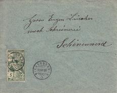 Bref Aus Niedergosgen, Briefmarke UPU  22.VII.1900. Nach Schönenwerd - 1882-1906 Coat Of Arms, Standing Helvetia & UPU