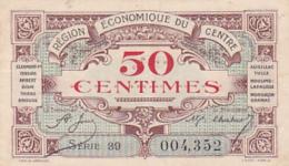 Région économique Du Centre - 50 Centimes - Série 39 - Rem. Avant Le 1er Août 1924 - Sans Filigrane - Chambre De Commerce