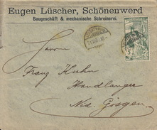 Bref Aus  Schönenwerd Mit Briefmarke UPU 21.VIII.1900 Nach Niedergosgen - 1882-1906 Coat Of Arms, Standing Helvetia & UPU