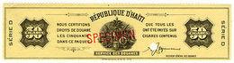 (I.B) Haiti Revenue : Tobacco Duty 50 Cigars (ABN Specimen) - Haiti