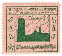 (I.B) Cinderella Collection : Esperanto Congress (Belgium 1914) - Poland