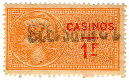 (I.B) France Revenue : Casinos 1Fr - Europe (Other)