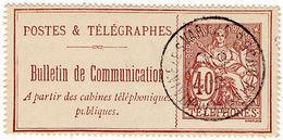 (I.B) France Telegraphs : Bulletin De Conversation 40c - Europe (Other)