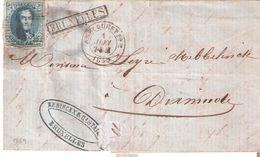 L. TP. N° 11A (4 Marges) O II Ambt. Ouest N° 2 Du Ier Juin 1859 + GRIFFE BRUXELLES V/DIXMUDE Au Verso - 1858-1862 Medallions (9/12)