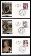 PAINTINGS Austria 1971 Mi 1360-62 Paintings Art Treasures Complete Set Of 3-fdc's....................................316 - 1945-.... 2nd Republic