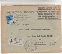 Este Per Città Su Assicurata, Cover Con Lire 30 Isolato 1948 - 1900-44 Victor Emmanuel III.