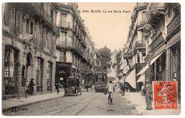 BLOIS  La Rue Denis Papin  Tramways  2 Scans - Blois