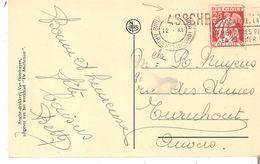 CP.Assche White Lodge -  TP. N° 339 BRUXELLES(Nord) + GRIFFE ASSCHE V/Turnhout - Langstempel
