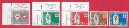 Suisse N°590 à 594 Pro-Patria 1957 ** - Neufs